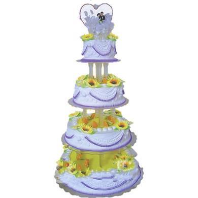 四层鲜奶水果蛋糕/爱之旅