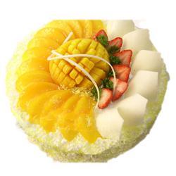 水果蛋糕/温馨祝福(8寸)