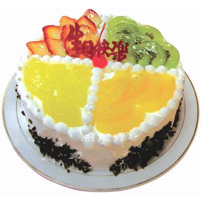 圓形鮮奶水果蛋糕/什錦水果(8寸)
