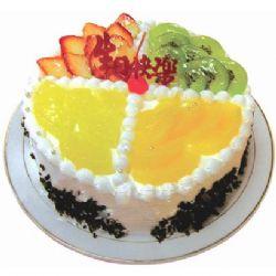 圆形鲜奶水果蛋糕/什锦水果(8寸)