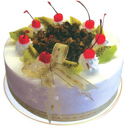 圆形鲜奶水果蛋糕/快乐心情(8寸)