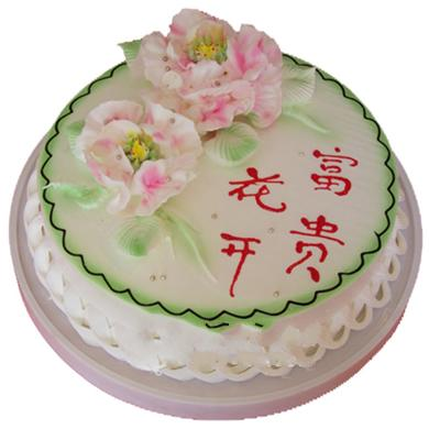 圓形鮮奶蛋糕/花開富貴(8寸)
