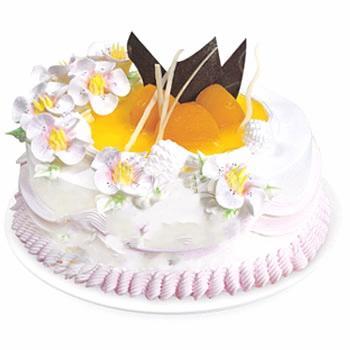 双层圆形鲜奶蛋糕/粉色黎明