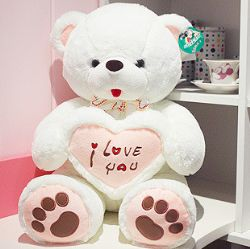情人节礼物/65cmLOVE BEAR 爱情熊: 三维中空PP棉,超柔绒,100%绿色产品,高65cm,单款900g