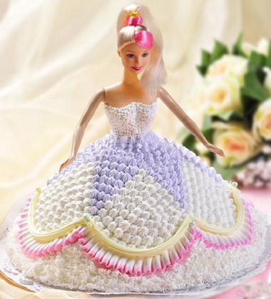 一品轩蛋糕/芭比娃娃(8寸)