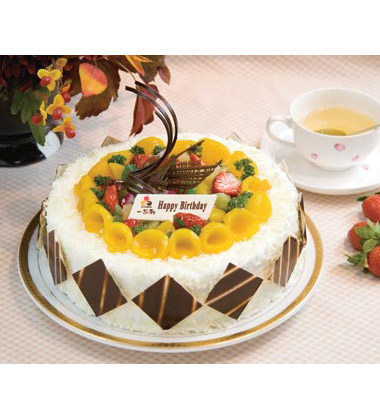 一品�蛋糕/富�F花�_(8寸)