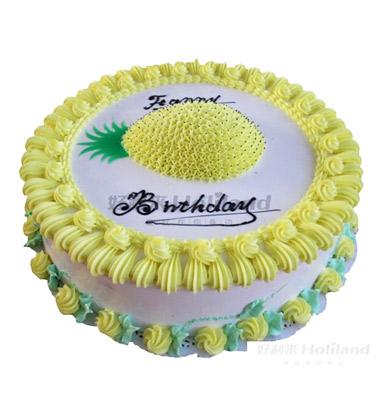 好利来蛋糕/菠萝(10寸)-订花人鲜花礼品网图片