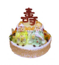 好利来蛋糕/福寿双全(12寸+8寸)