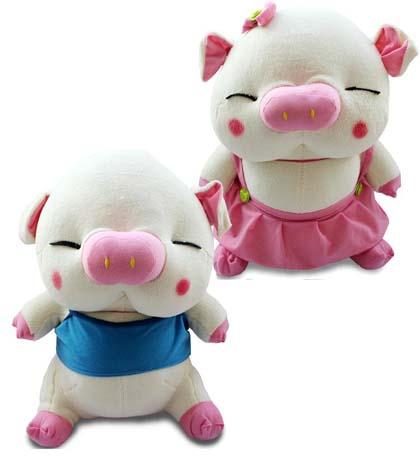 情侶豬/毛絨玩具