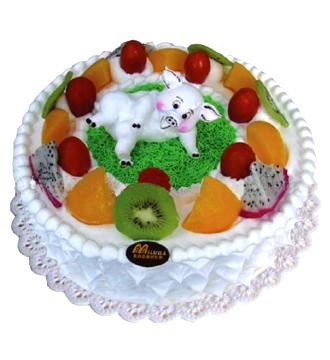 鲜奶蛋糕/猪生日快乐
