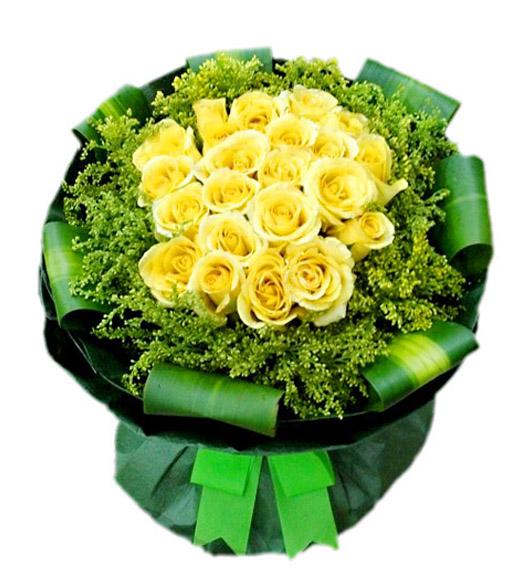 22朵黄玫瑰/心中有你
