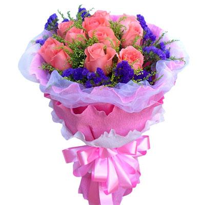 11朵粉玫瑰/一生祝福