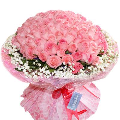 99朵粉玫瑰/粉色物语