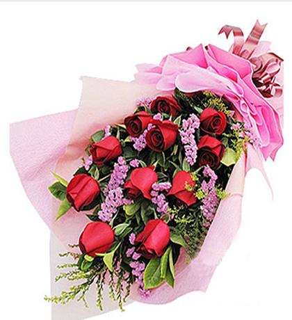 11枝红玫瑰/相恋的心-订花人鲜花速递