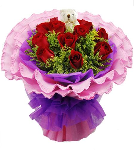 11朵红玫瑰/一心一意