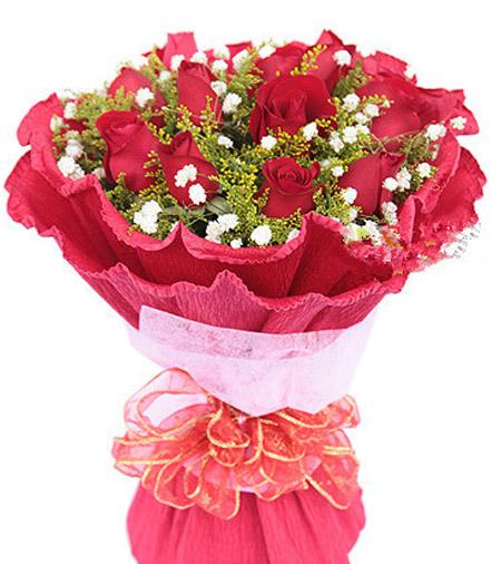 11枝红玫瑰/一心一意