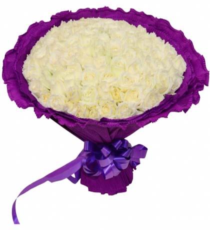 99枝白玫瑰/遇見你是我的緣
