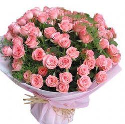 99枝粉玫瑰/天长地久