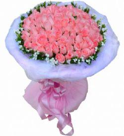 99枝粉玫瑰/愛你愛不夠