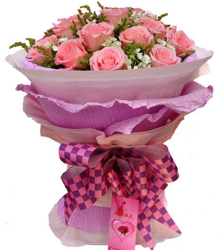 19枝粉玫瑰/粉色戀人