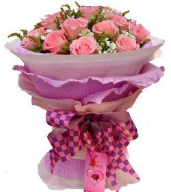 19枝粉玫瑰/粉色恋人