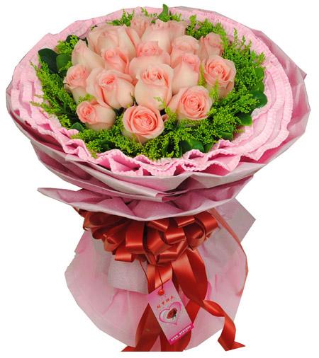 19枝粉玫瑰/友情