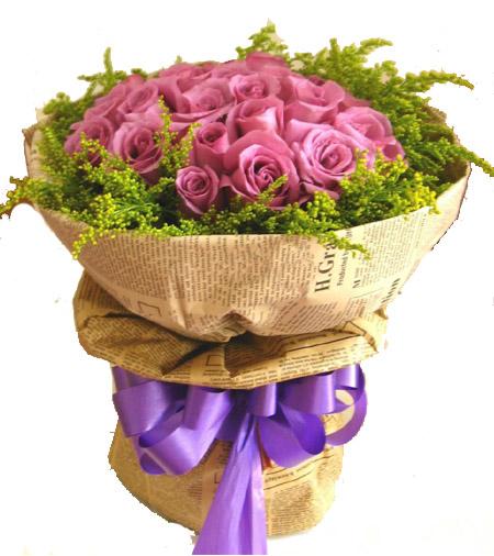 24枝紫玫瑰/思念