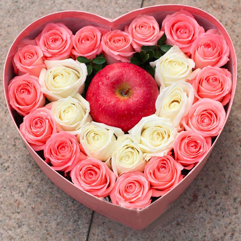 圣诞鲜花/16粉玫瑰