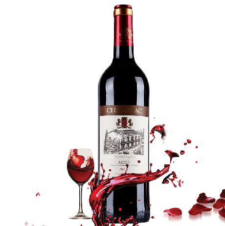 法国原装进口红酒 葡萄酒 多郎克经典奥德干红葡萄酒