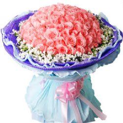长相守/99朵粉玫瑰