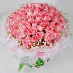 温情绽放/99朵粉玫瑰