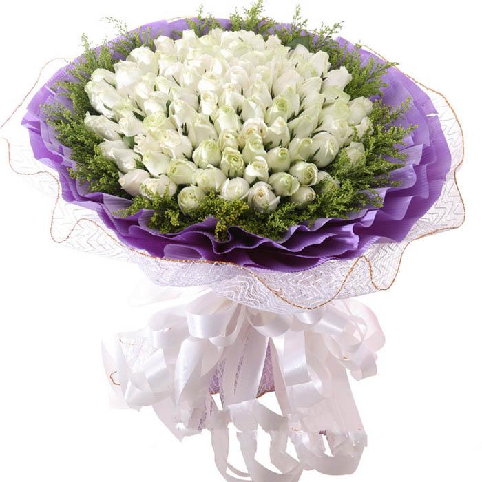 爱到永远/99朵白玫瑰