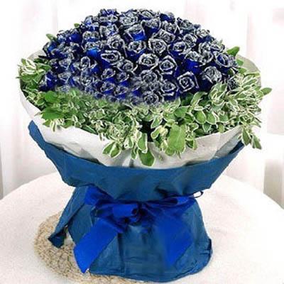 蓝月光/99朵蓝玫瑰