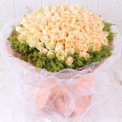 爱恋/99朵香槟玫瑰: 99朵香槟玫瑰,外围黄莺