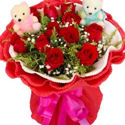 玫瑰缘/11朵红玫瑰