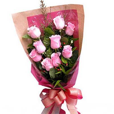 星光传温情/9朵粉玫瑰