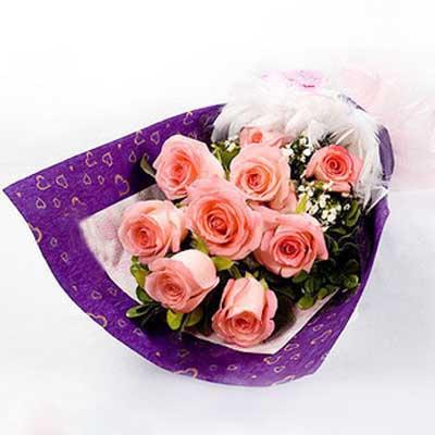 爱的约定/9朵粉玫瑰