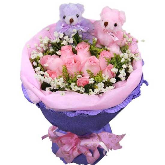 我的思念/9朵粉玫瑰
