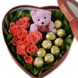 坚定的爱/9朵粉玫瑰