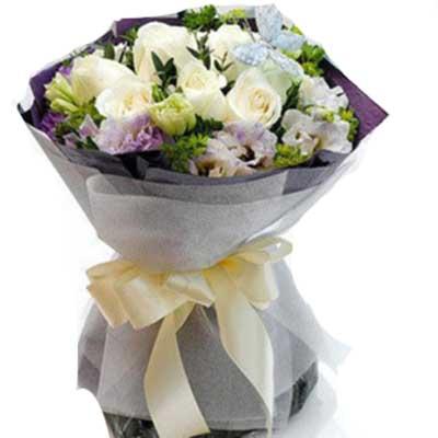 �坶L相守/9朵白玫瑰