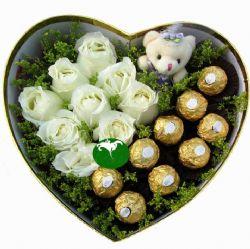 浪漫爱情/9朵白玫瑰