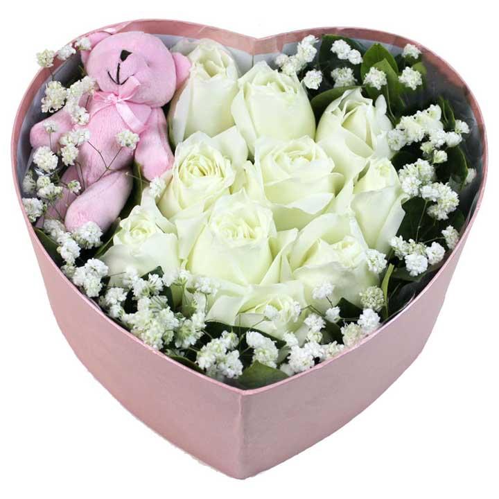 �尚�o猜/9朵白玫瑰