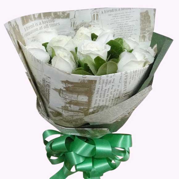 ���/9朵白玫瑰: 9朵白玫瑰,�c�Y配�~