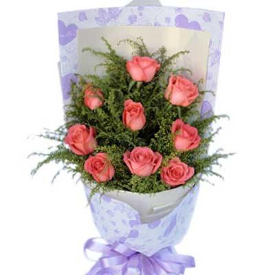天涯海角/9朵粉玫瑰