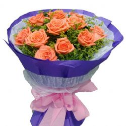 �剀�/11朵粉玫瑰