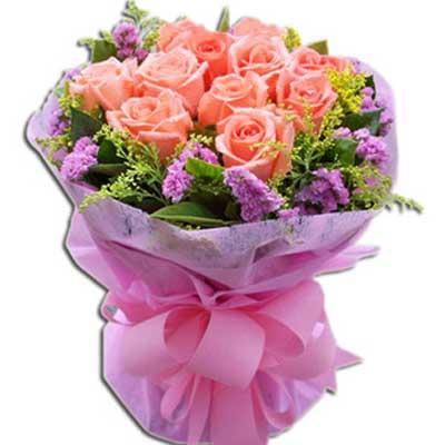 遇到你/11朵粉玫瑰
