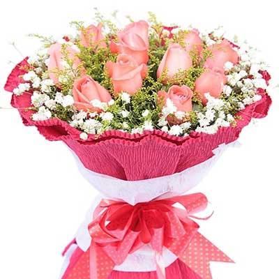 爱的味道/11朵粉玫瑰