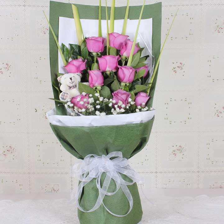 真爱/11朵紫玫瑰