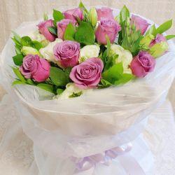 紫�垡簧�/11朵紫玫瑰