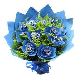 共渡今生/11朵蓝玫瑰
